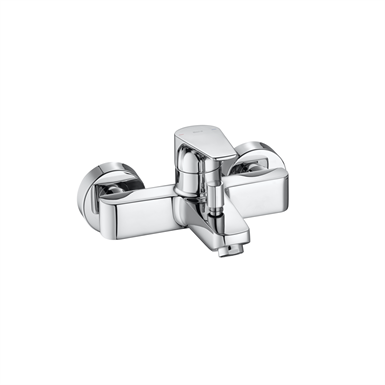 ATLAS Wall-mounted bath-shower mixer w/ automatic diverter
