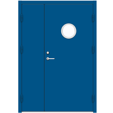 Steel Door SDE4210 GS1R - Double Unequal