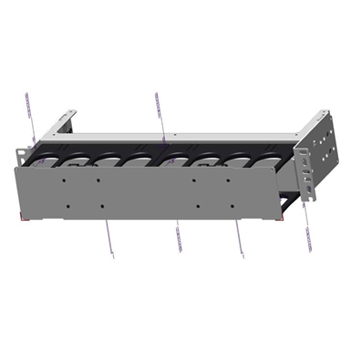 EDGE™ Horizontal Jumper Manager, 2 Rack Units