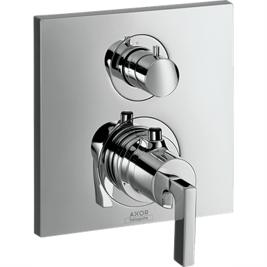 AXOR Citterio Thermostat for concealed installation with shut-off/ diverter valve and lever handle 39720000