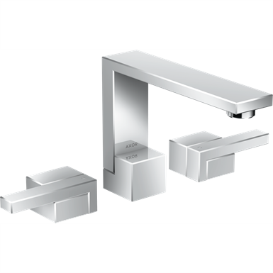 AXOR Edge 3-hole basin mixer 130 with push-open waste set 46050000