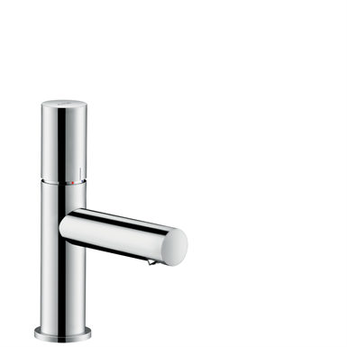 AXOR Uno Single lever basin mixer 80 with zero handle and waste set 45005000
