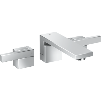 AXOR Edge 3-hole basin mixer for concealed installation wall-mounted with spout 190 mm 46060000