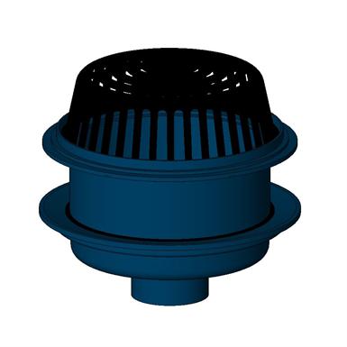Z100 E 15 Diameter Main Roof Drain With Extension Zurn Industries Free Bim Object For Revit Revit Bimobject