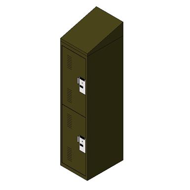 Personal Storage Locker 2 Tier Single Door Slope Top Spacesaver Corporation Free Bim Object For Revit Revit Revit Bimobject