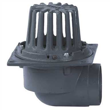 FLANGED CAST IRON ROOF DRAIN W/SIDE OUTLET - RD-280-SO