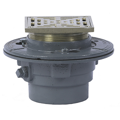 Floor Drain With Square Heavy Duty Strainer Fd 100 L