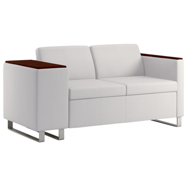 WIELAND RALLY COMPOSE LOVESEAT WITH EMBRACE ARM, AVAILABLE IN MID
