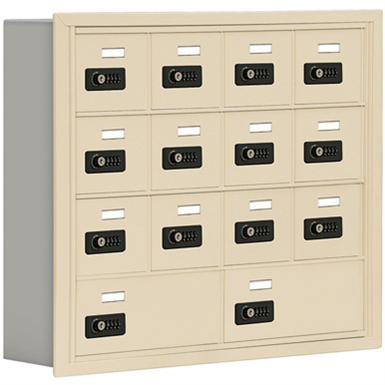 19000 Series Cell Phone Lockers-Recessed Mounted-4 Door High Units-5 Inch Deep Compartments
