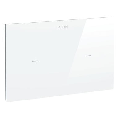 LAUFEN INSTALLATION SYSTEM Electronic glass flush plate AW4, contactless, dual flush