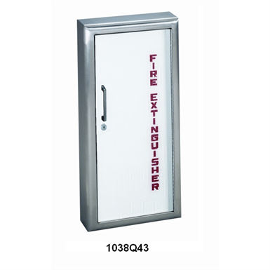 JL Industries | Fire Extinguisher Cabinet Frameless Acrylic Door with Stainless Steel Trim | Panorama Series
