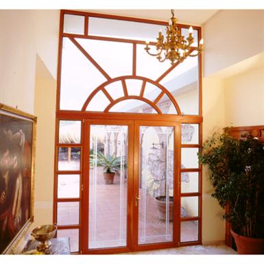 S 22 ALUMINUM/WOOD CLAD FRENCH & PIVOT DOOR (Panda Windows