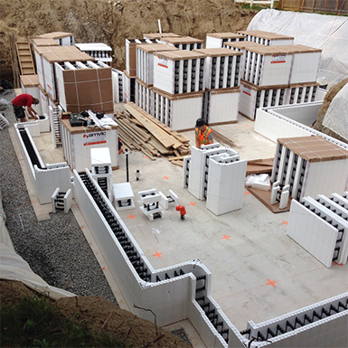 Amvic - R22 12in Insulated Concrete Forms (ICF)