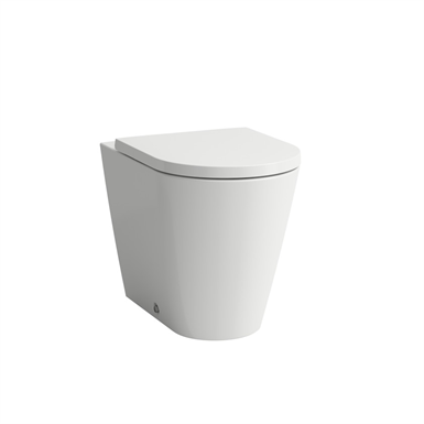 KARTELL BY LAUFEN 823337 Floorstanding WC 'rimless', washdown, without flushing rim, outlet horizontal/vertical