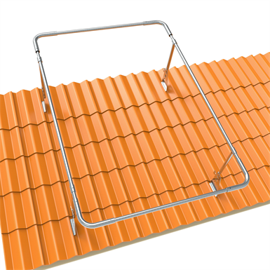 GUARD RAIL SYSTEM TYPE O FOR CLAY TILE ROOFS (Lindab)   Free BIM