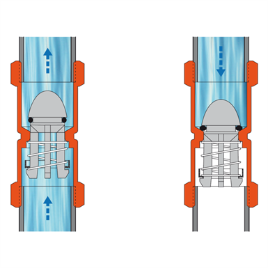 KENT CHECK VALVE F-F (STH Comap) | Free BIM object for Revit | BIMobject