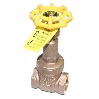 101T, 30 Series Bronze Gate Valves, Class 125, Threaded Bonnet, RS, Bronze Disc, NPT