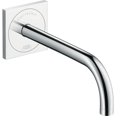 AXOR Uno Electronic basin mixer for concealed installation wall-mounted with spout 225 mm 38120000