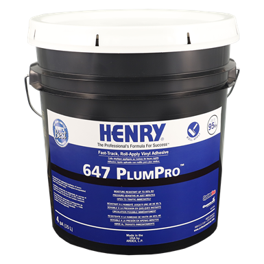 HENRY® 647 PLUMPRO™ Fast-Track, Roll-Apply Vinyl Adhesive