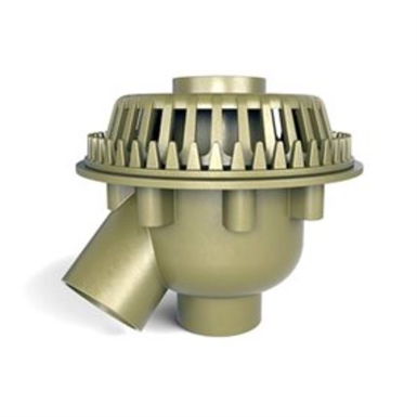 Zurn Froet 100c Bi Functional Deep Sump Dual Outlet Roof Drain With Dome 6 Zurn Industries Free Bim Object For Revit Bimobject
