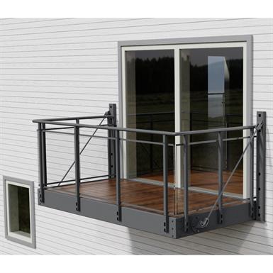 Balcony With Glitra Glass Railing Midthaug Free Bim Object For