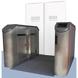 Optical Turnstile with Glass Barrier Gate