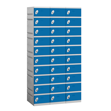 90000 Series Plastic Lockers - Ten Tier - 3 Wide