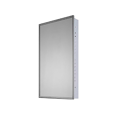 "Euroline Series Stainless Steel Frame Medicine Cabinet - 18"" x 36"" Flush Mounted"