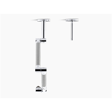 Karbon Articulating Two Hole Wall Mount Kitchen Sink Faucet With 13 1 4 Spout With Silver Tube Kohler Free Bim Object For Revit Bimobject