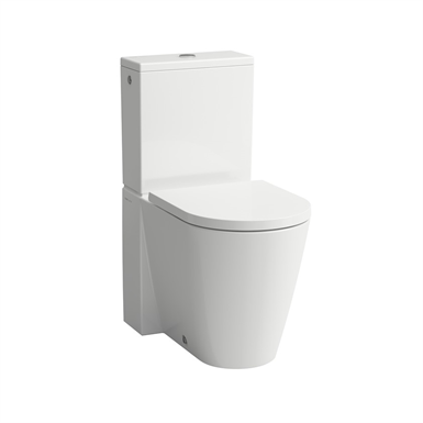 KARTELL BY LAUFEN Floorstanding WC 'rimless', close-coupled, washdown, without flushing rim