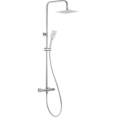Alpinia shower column with thermostatic mixer