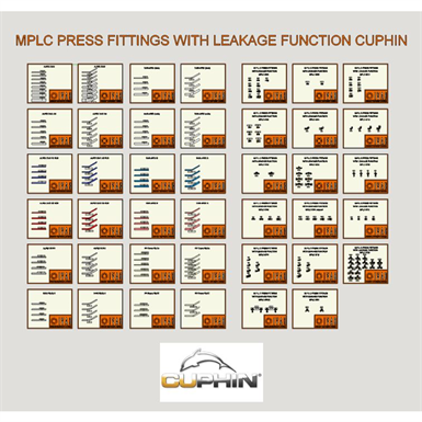 MPLC press fitings with leakage function