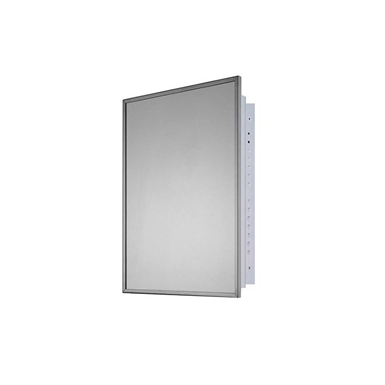 "Residential Series Stainless Steel Frame Medicine Cabinet - 16"" x 22"" Recessed Mounted"