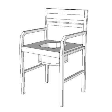 M4801 - COMMODE CHAIR (SEPS2BIM) | Free BIM object for Revit, Revit