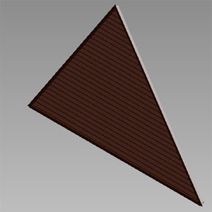 ELT: STATIONARY LOUVERS, TRIANGULAR AND TRAPEZOIDAL SHAPES, EXTRUDED