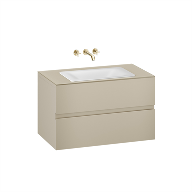ARMANI - BAIA 1000 mm wall-hung furniture for  countertop washbasin and wall-mounted basin mixer