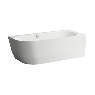 LAUFEN PRO Bathtub, corner version right, incl. feet for bathtub, made of Marbond composite material