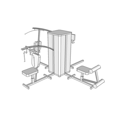 G1026 - EXERCISE APPARATUS, WEIGHT TRAINING, MULTI-STATION (SEPS2BIM
