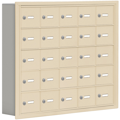 19000 Series Cell Phone Lockers-Recessed Mounted-5 Door High Units-5 Inch Deep Compartments