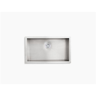 Vault 32 X 18 5 16 X 9 5 16 Under Mount Large Single Bowl Kitchen Sink With No Faucet Holes Kohler Free Bim Object For Revit Bimobject