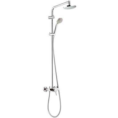 Croma Showerpipe 160 1jet EcoSmart 9 l/min with single lever mixer 27245000
