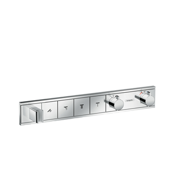 RainSelect Thermostat for concealed installation for 4 functions with integrated shower holder 15357000