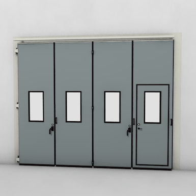 ASSA ABLOY FD2250P Folding Door (4+0)(0+4) Manual DLW 2585-5000mm DLH 1850-6000mm
