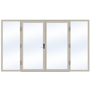 Steel Door SD4220 P65 EI60 Double with Sidelights on Left and Right
