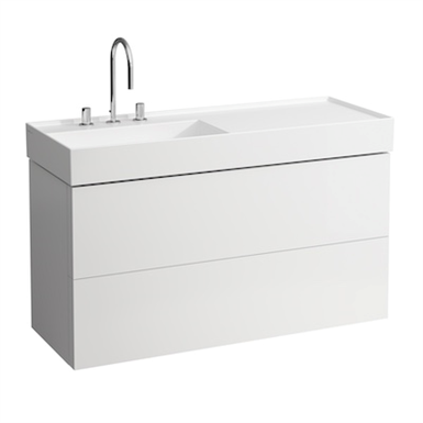 KARTELL BY LAUFEN Vanity unit 1200 mm, 2 drawers, incl. drawer organiser, matches washbasin 813332
