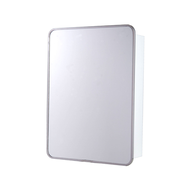 "Round Corner Series Stainless Steel Frame Medicine Cabinet - 16"" x 22"" Surface Mounted"
