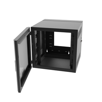 18RU, Swing-Out Wall-Mount Cabinet, Plexi Door