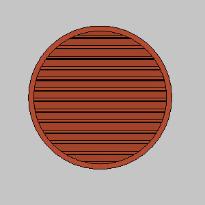 ELR: STATIONARY LOUVERS, ROUND AND SEMI-ROUND SHAPES, EXTRUDED