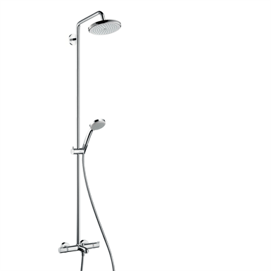Croma Showerpipe 220 1jet with bath thermostat 27223000