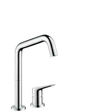 AXOR Citterio M 2-hole single lever kitchen mixer 240 with swivel spout 34820000